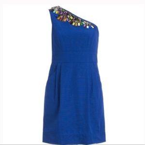 Shoshanna Beaded Blue Dress - Size 4
